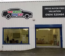 Sell your car at WeWantAnyCar Oldham branch
