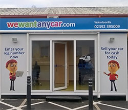 Sell your car at WeWantAnyCar Waterlooville branch