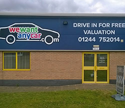 Sell your car at WeWantAnyCar Chester/Deeside branch