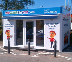 Sell your car at WeWantAnyCar Coventry branch