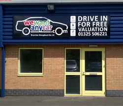 Sell your car at WeWantAnyCar Newton Aycliffe branch