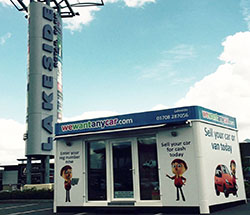 Sell your car at WeWantAnyCar Lakeside branch