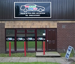 Sell your car at WeWantAnyCar Warrington branch