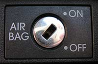 Airbag switch off function