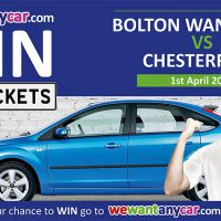 win vip tickets bolton wanderers vs. chesterfield